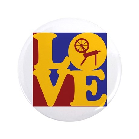 "Spinning Love 3.5"" Button (100 pack)"