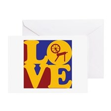 Spinning Love Greeting Card