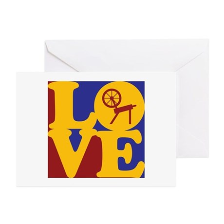 Spinning Love Greeting Cards (Pk of 10)