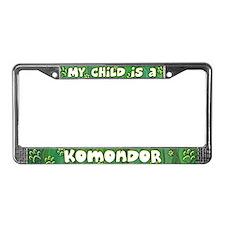 My Kid Komondor License Plate Frame