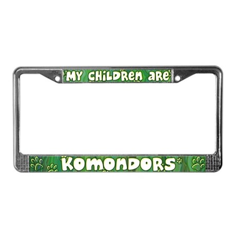 My Children Komondor License Plate Frame