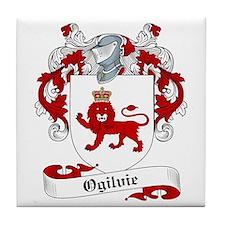 Ogilvie Family Crest Tile Coaster