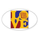Software Engineering Love Oval Sticker