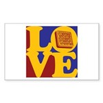 Software Engineering Love Rectangle Sticker 10 pk
