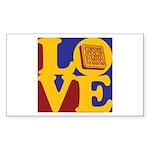 Software Engineering Love Rectangle Sticker 50 pk