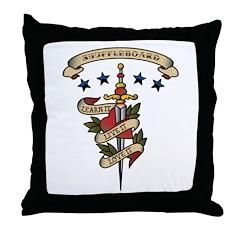 Love Shuffleboard Throw Pillow