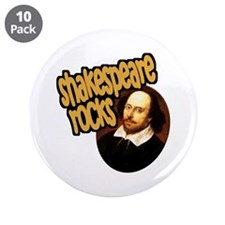 """Shakespeare Rocks 3.5"""" Button (10 pack)"""