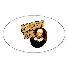Shakespeare Rocks Oval Decal