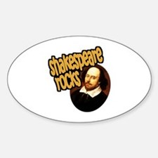 Shakespeare Rocks Oval Decal