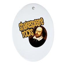 Shakespeare Rocks Oval Ornament
