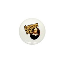Shakespeare Rocks Mini Button (10 pack)