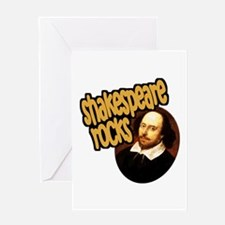 Shakespeare Rocks Greeting Card