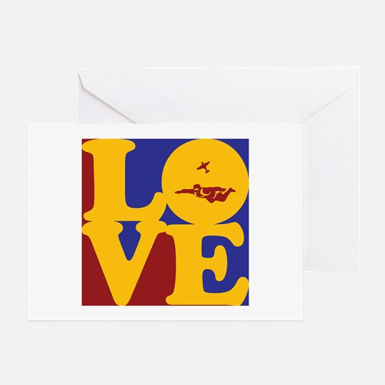 Skydiving Love Greeting Card