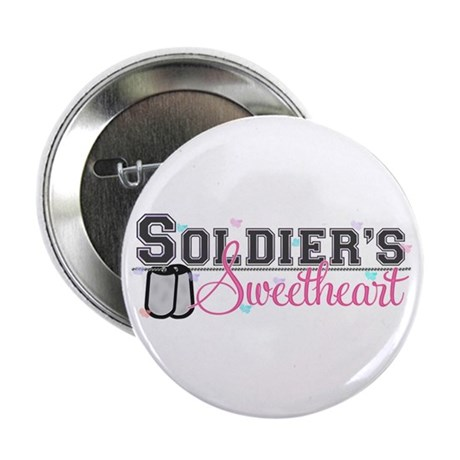"""Soldier's Sweetheart 2.25"""" Button"""