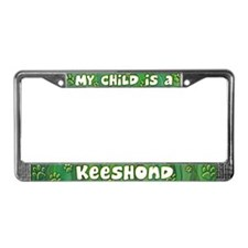 My Kid Keeshond License Plate Frame