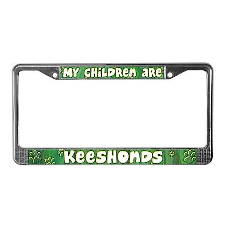 My Children Keeshond License Plate Frame