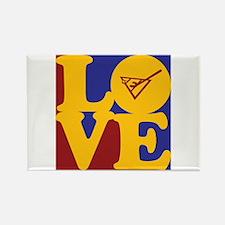 Shuffleboard Love Rectangle Magnet (100 pack)