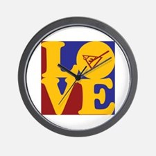 Shuffleboard Love Wall Clock