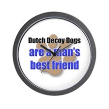 Dutch Decoy Dogs man's best friend Wall Clock