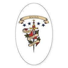 Love Sauna Oval Sticker (10 pk)