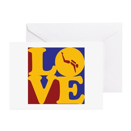 Scuba Diving Love Greeting Cards (Pk of 10)