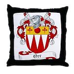 Orr Family Crest Throw Pillow