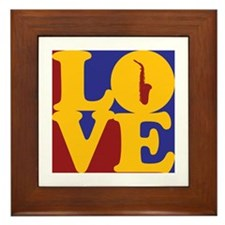 Saxophone Love Framed Tile