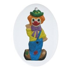 Splits the Clown Oval Ornament