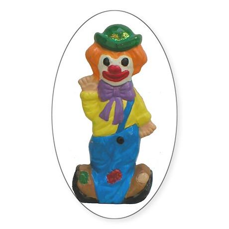 Splits the Clown Oval Sticker