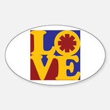 Saving Lives Love Oval Decal
