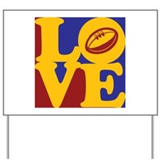 Rugby Love Yard Sign