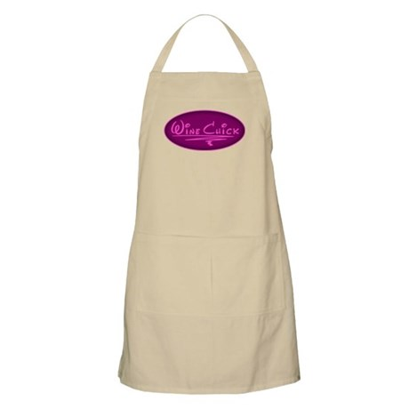 Wine Chick Oval BBQ Apron