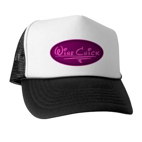Wine Chick Oval Trucker Hat