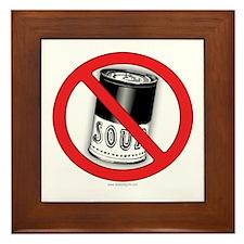 No Soup... Framed Tile