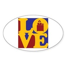 Reception Love Oval Decal