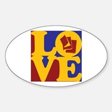 Reading Love Oval Decal