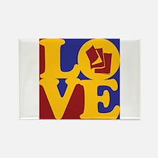 Reading Love Rectangle Magnet