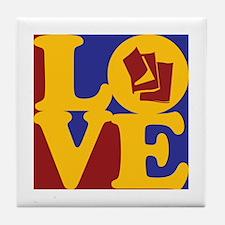 Reading Love Tile Coaster