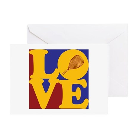 Racquetball Love Greeting Card