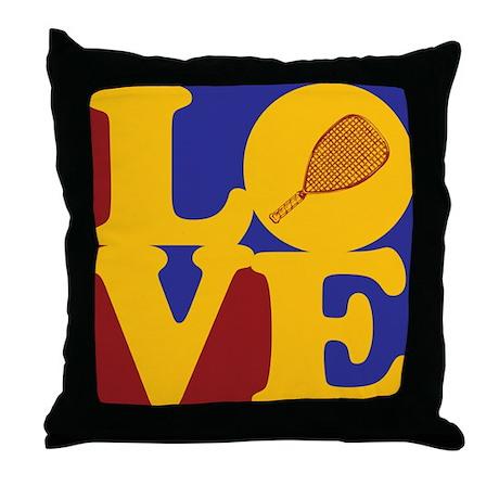 Racquetball Love Throw Pillow