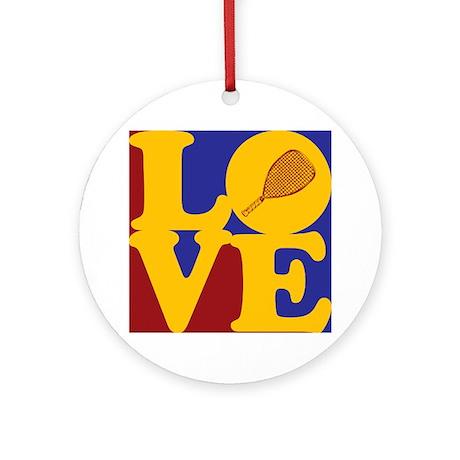 Racquetball Love Ornament (Round)