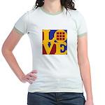 Quilts Love Jr. Ringer T-Shirt