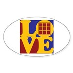 Quilts Love Oval Sticker (50 pk)