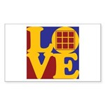 Quilts Love Rectangle Sticker