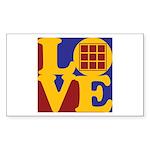 Quilts Love Rectangle Sticker 50 pk)