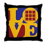 Quilts Love Throw Pillow
