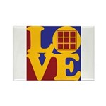 Quilts Love Rectangle Magnet