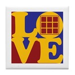 Quilts Love Tile Coaster