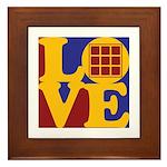 Quilts Love Framed Tile