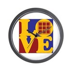 Quilts Love Wall Clock
